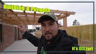 Building/installation of a cedar pergola feature