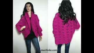 how to crochet easy oversize jacket cardigan free pattern all sizes