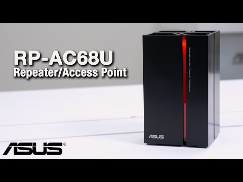 RP-AC68U Wireless-AC1900 Range Extender/Media Bridge Overview