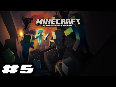Minecraft PlayStation 4 Edition Gameplay - A QUICK STROLL AT NIGHT