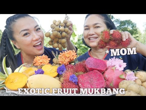EXOTIC FRUITS MUKBANG WITH MOM *Lets Eat (Thailand) | SASVlogs