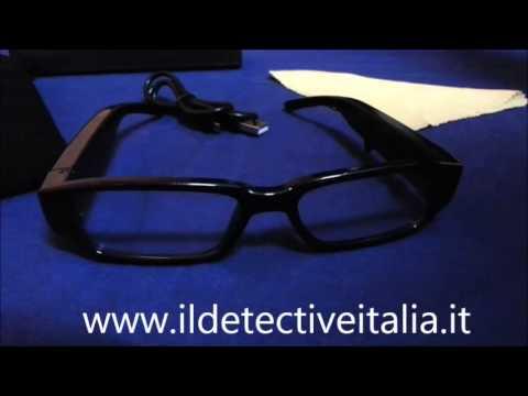 Occhiali spia telecamera nascosta microtelecamera spy