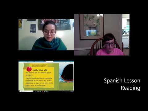 Spanish Reading Lesson.