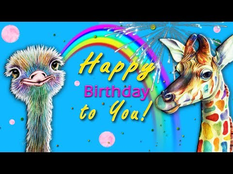 ☀️Happy Birthday to You!☀️Best Animated Greeting Card 4K #WhatsApp