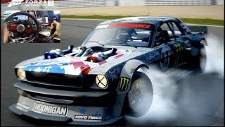 """""""HARD"""" 1400hp Hoonicorn RIVALS Drift Challenge - Forza 7 w/Fanatec Rig"""