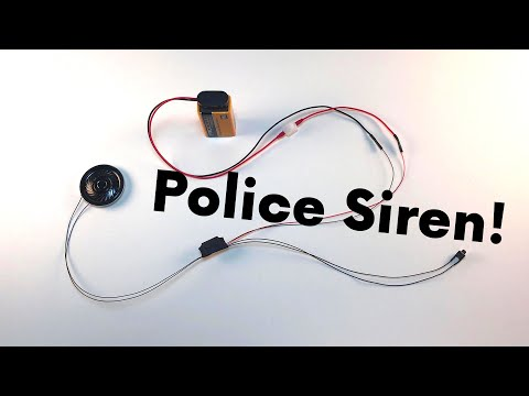 POLICE Siren Circuit for Diecast Police Models and R//C Emergency Vehicles!
