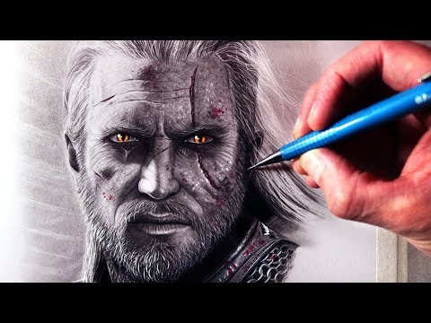 Let's Draw GERALT OF RIVIA - THE WITCHER - FAN ART FRIDAY