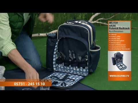 SMAK Picknick Rucksack für 4 Personen