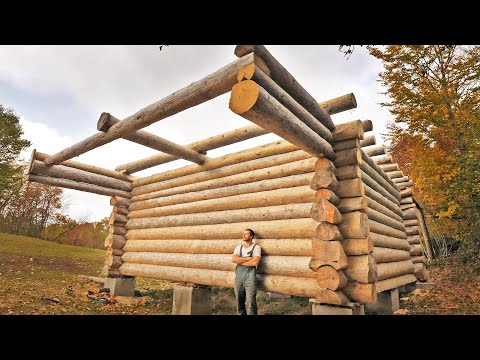 One Year of Log Cabin Building / One Man Odyssey Building His Dream House [2:10:35] (not finishing it in this video)