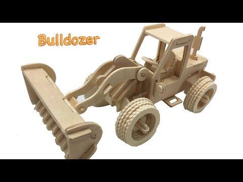 DIY Miniature Bulldozer ~ Woodcraft Construction Kit