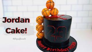 Making A JORDAN Cake! I Basketball Cake Design