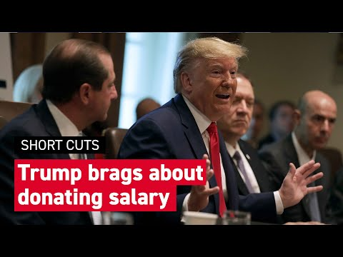 Trump botches a boast about giving away his presidential salary