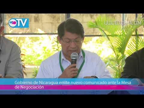 Gobierno de Nicaragua emite nuevo comunicado ante la Mesa de Negociación