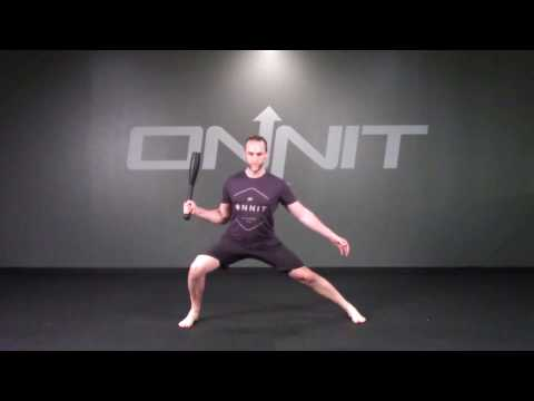 Single Side Ready Side Lunge Steel Club Exercise