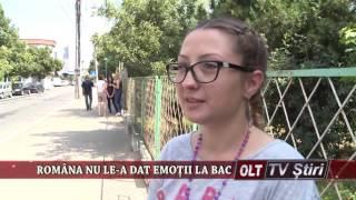 ROMANA NU LE A DAT EMOTII LA BAC 0407
