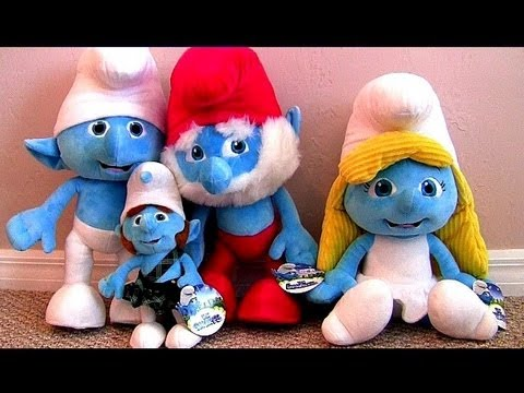 THE SMURFS toys plush collection Smurfette Clumsy Gutsy Papa Smurf Jumbo