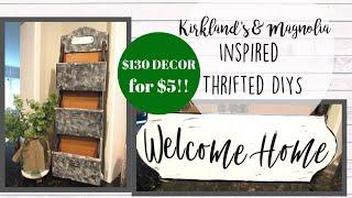 Magnolia & Kirklands Inspired THRIFT STORE DIYS | GALVANIZED ORGANIZER | DIY ENAMEL SIGN | UNDER $5