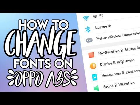 OPPO A3S| HOW TO CHANGE FONT| SWEET MARIE - смотреть онлайн
