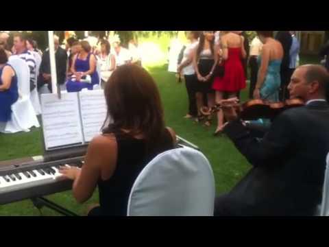 Aria de la Suite en Re de Bach con piano y violín