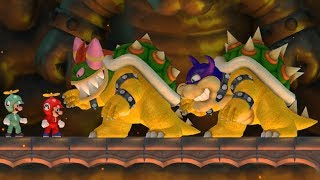 New Super Mario Bros Wii - Rookie and Bowletta Boss Battles - dooclip.me