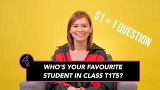 """""""My Favourite Student in Class T1T5"""" - Amander Liew"""