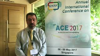 Prof. Sherif Ishak at ACE Conference 2017 by GSTF Singap