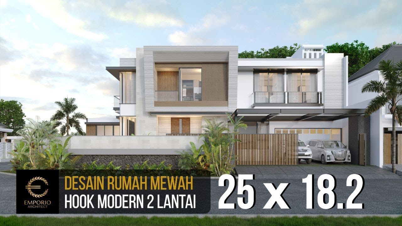 Video 3D Mrs. Dery Modern Hook House 2 Floors Design - Jakarta Utara