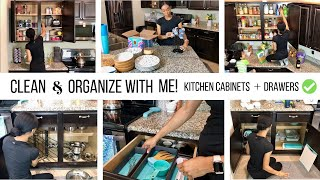 KITCHEN ORGANIZATION // CABINETS & DRAWERS 2019 // Jessica Tull cleaning
