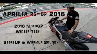 MotoGP 2016 Sepang Winter Test - Aprilia RS-GP start up