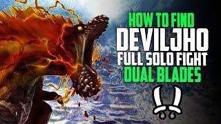 ✔️ HOW TO FIND DEVILJHO! FIRST Deviljho DLC Solo Fight Dual Blades! Monster Hunter World Update