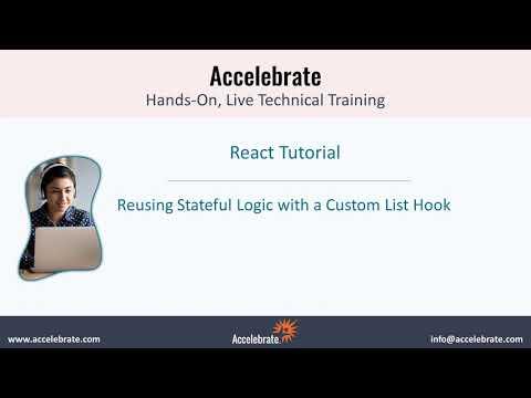 React Tutorial: Reusing Stateful Logic with a Custom List Hook