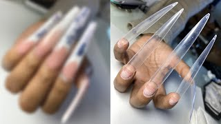 Doing SUPER LONG NAILS On My CLIENT - ACRYLIC NAILS - MODELONES