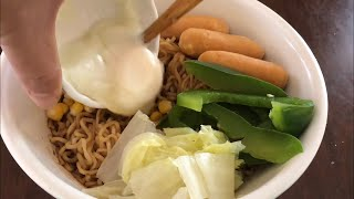 Indo Mee Cooking With Lots Of Vege
