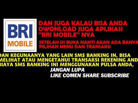 Video Cara REGISTRASI sms banking ATM  Info SMS Banking