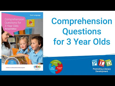 3 year old comprehension questions