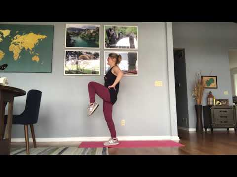 Reverse Lunge to Knee Crunch