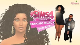 Let's Play The Sims 4: Making Black Sims & You #2: Black Sim Male X Plus Sized Beauty