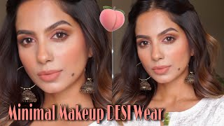 BEGINNER FRIENDLY FRESH MAKEUP FOR EVERYDAY DESI WEAR USING MINIMAL PRODUCTS!