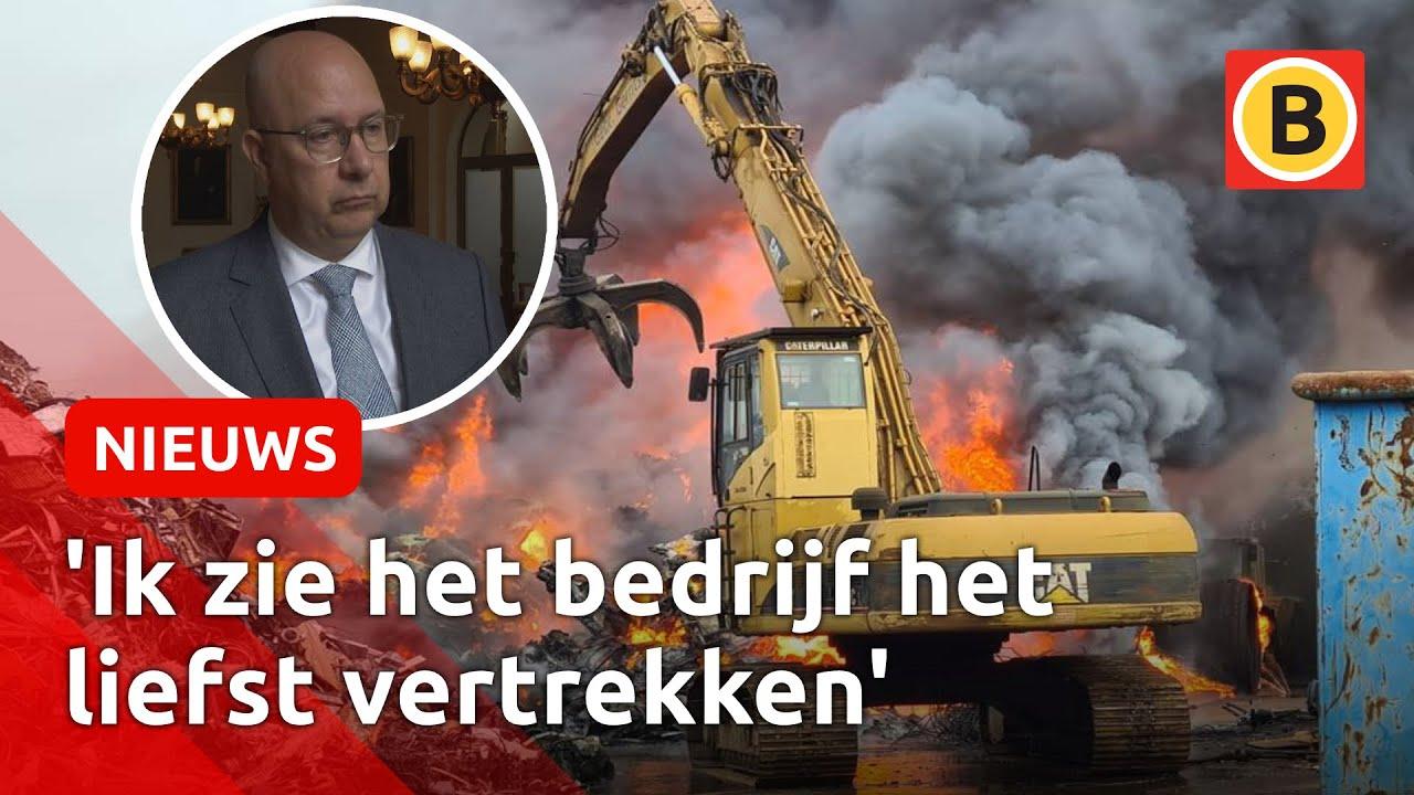 'Te vaak brand bij AVI', maar sluiten is volgens burgemeester nu geen optie   Omroep Brabant