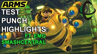 VIOL-ENT Gaming • ARMS: Global Test Punch Round 1 Highlights ( F.T. EMG Smash Central)