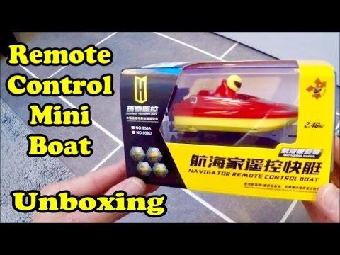 Remote Control Boat Mini Unboxing
