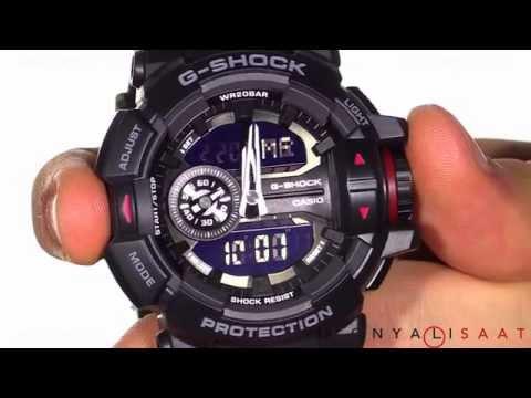 10791394354 relógio casio g-shock ga-400-1bdr h.mundial 5 alarmes 200m. Carregando zoom.