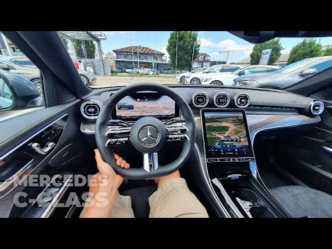 New Mercedes C-Class AMG Line 2022 Test Drive Review POV