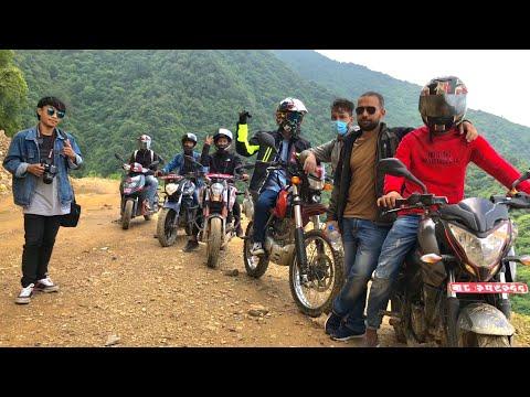 Chitlang - Off road Ride || Bike Crash, BBQ Party & Drone Shot || Nepal