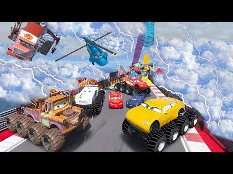 Cars 3 Colors Jackson Storm Monster Cruz Ramirez Lightning McQueen 8X8 Tow Mater Mack Truck Dinoco