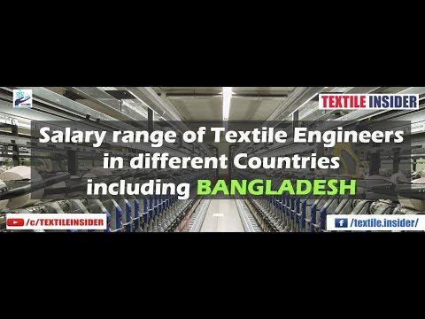 Salary range of Textile Engineers in different Countries