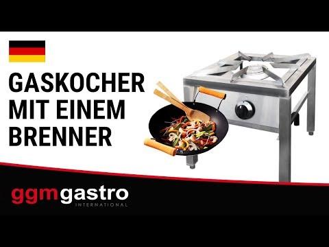 Gaskocher mit einem Brenner - GGM Gastro