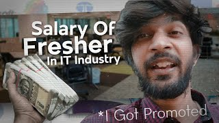 What is My Salary ? How Much Fresher Earn In IT Industry - I Got Promotion 🎉 - Vlog #34