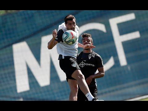 El Málaga CF entrena sin novedades