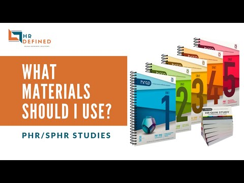 Taking the PHR/SPHR? What materials should I use? - YouTube